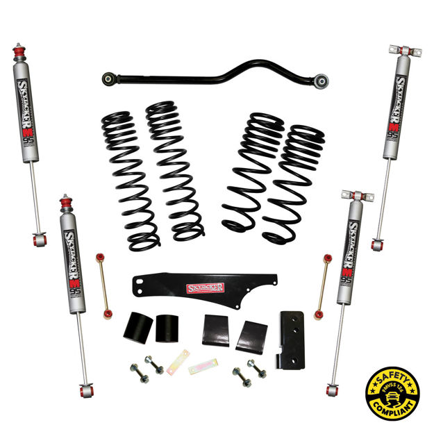 """Picture of Skyjacker 3.5-4"""" Dual Rate Long Travel Lift Kit With M95 Monotube Shocks"""