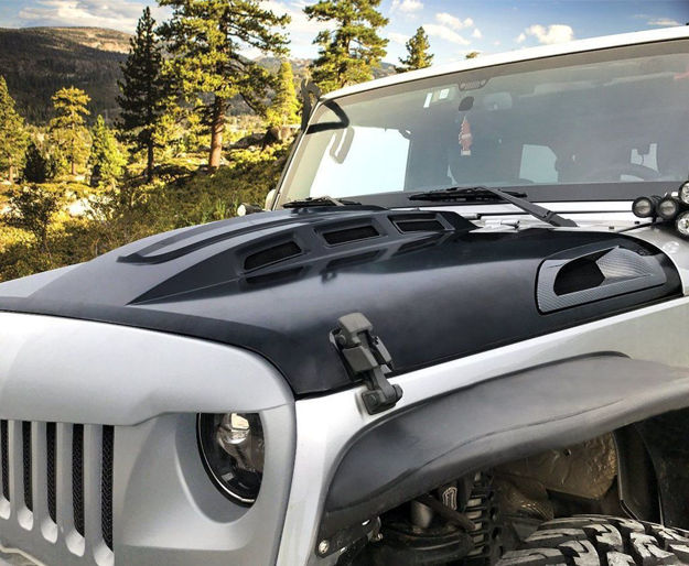 Picture of HEMI Vented Hood for 07-18 Jeep Wrangler JK