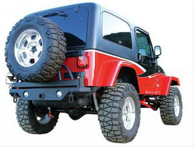 Picture of Rampage Recovery Rear Bumpers with Tire Carrier 76610